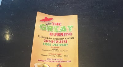 Photo of Mexican Restaurant The Great Burrito at 10 Hilliard Ave, Edgewater, NJ 07020, United States
