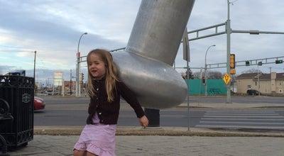 Photo of Historic Site Giant Baseball Bat at 118 Ave, Edmonton, Canada