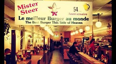 Photo of American Restaurant Mister Steer Restaurant at 1198 Sainte-catherine St. West, Montreal H3B 1K1, Canada