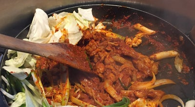 Photo of Korean Restaurant 유가네 닭갈비 (Yoogane) at 동안구 범계동 1044-7, 안양시 431-050, South Korea
