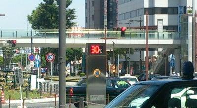 Photo of Monument / Landmark 高崎駅東口の外気温計 at 栄町, 高崎市, Japan