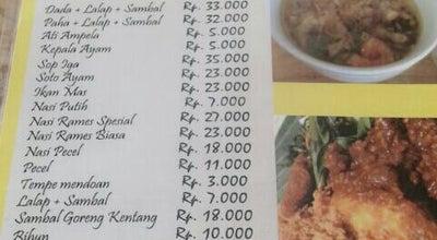 Photo of Asian Restaurant Ayam Goreng Kampung Gajah Mungkur at Jl. Alternative Sentul, Bogor, Indonesia