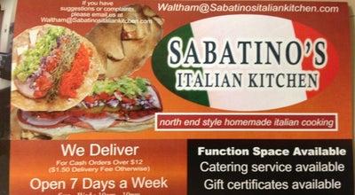 Photo of Pizza Place Sabatino's Italian Kitchen at 895 Main St, Waltham, MA 02451, United States