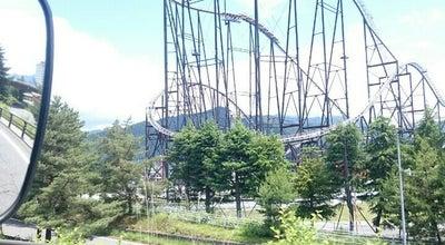 Photo of Theme Park Fuji-Q Highland Entrance at Fuji, Fujiyoshida, Japan