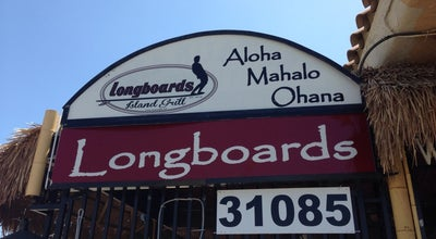 Photo of American Restaurant Longboards Island Grill at 31085 Riverside Dr, Lake Elsinore, CA 92530, United States