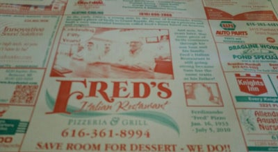Photo of Pizza Place Fred's Pizza at MI, United States