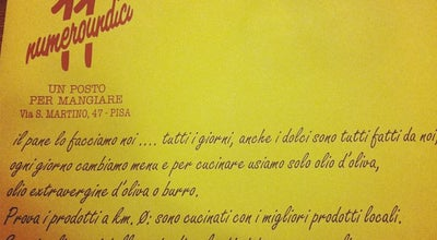 Photo of Diner Numero Undici at Via San Martino, 47, Pisa 56125, Italy