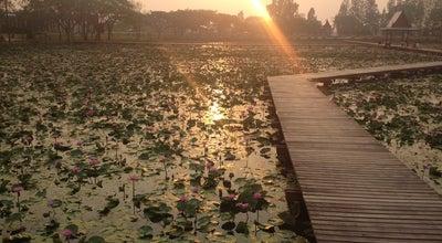 Photo of Lake อุทยานบัวเฉลิมพระเกียรติ at มหาวิทยาลัยเกษตรศาสตร์ วิทยาเขตเฉลิมพระเกียรติ, Sakon Nakhon, Thailand
