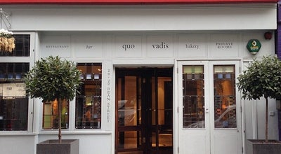 Photo of Modern European Restaurant Quo Vadis at 26-29 Dean Street, London W1D 3LL, United Kingdom