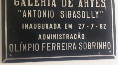 Photo of Art Gallery Galeria de Artes Antonio Sibasoly at Praça Bom Jesus, Anapolis, Brazil