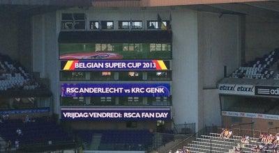Photo of Soccer Stadium Stade Constant Vanden Stock Stadion at Av. Theo Verbeecklaan 2, Anderlecht 1070, Belgium