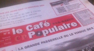 Photo of Bar Café Populaire at 11, Rue Lebascles, Poitiers 86000, France