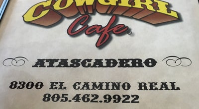 Photo of Cafe Cow Girl Cafe at 8300 El Camino Real, Atascadero, CA 93422, United States