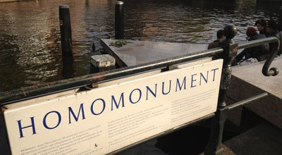 Photo of Monument / Landmark Homomonument at Westermarkt, Amsterdam, Netherlands
