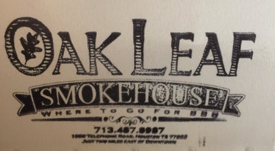 Photo of BBQ Joint Oak Leaf Smokehouse at 1000 Telephone Rd, Houston, TX 77023, United States