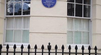 Photo of Historic Site John Lennon blue plack at 34 Montagu Sq, London W1, United Kingdom
