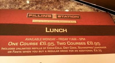 Photo of American Restaurant The Filling Station at Intu Braehead, Glasgow G51 4BN, United Kingdom