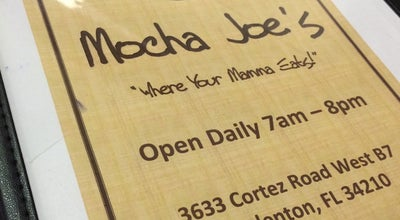 Photo of Cafe Mocha Joe's at 3633 Cortez Rd West, Bradenton, FL 34210, United States