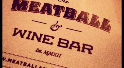 Photo of Mediterranean Restaurant The Meatball & Wine Bar at 105 Swan St, Richmond, VI 3121, Australia