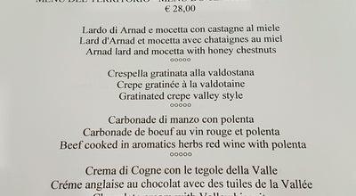Photo of Italian Restaurant Vecchia Aosta at Italy