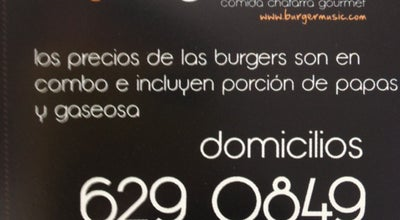 Photo of Burger Joint Burger Music at Calle 116  45 - 46, Bogotá, Colombia