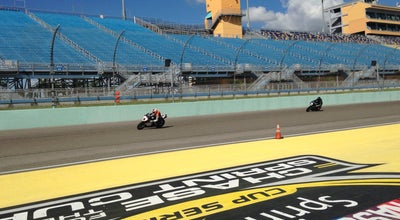 Photo of Racetrack Homestead Miami Speedway Pit Lane at Homestead, FL 33035, United States