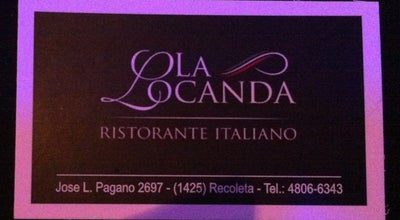 Photo of Italian Restaurant La Locanda at José León Pagano 2697, Recoleta, Argentina