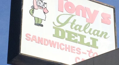 Photo of Sandwich Place Tony's Italian Deli at 1124 W Magnolia Blvd, Burbank, CA 91506, United States