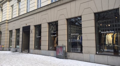 Photo of Clothing Store Acne Studios at Norrmalmstorg 2, Stockholm 111 46, Sweden