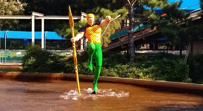 Photo of Theme Park Ride / Attraction Aquaman Splashdown at Six Flags Over Texas, Arlington, TX, United States