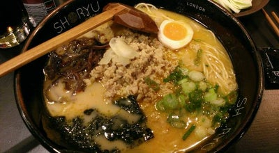 Photo of Food Shoryu Ramen at 3 Denman St, Soho W1D 7HB, United Kingdom