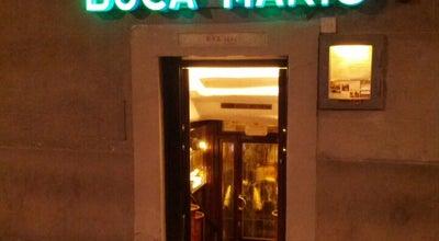 Photo of Italian Restaurant Buca Mario at Piazza Degli Ottaviani, 16-red, Firenze, Italy