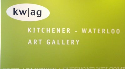 Photo of Art Gallery Kitchener-Waterloo Art Gallery at 101 Queen St. N., Kitchener, On N2H 6P7, Canada