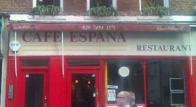 Photo of Mediterranean Restaurant Cafe Espana at 63 Old Compton Street, London W1D 6HT, United Kingdom