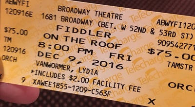 Photo of Theater Fiddler on the Roof at The Broadway Theatre 1681 Broadway, New York, NY 10019, United States