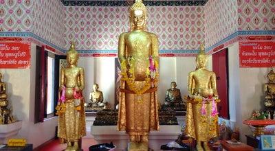Photo of Buddhist Temple วัดช่องลม พระอารามหลวง (Wat Chong Lom) at Ratchaburi, Thailand