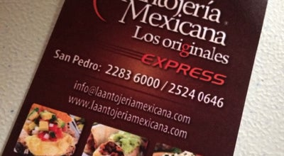 Photo of Mexican Restaurant La Antojería Mexicana at Del Más X Menos, 50mts Oeste Y 25mts Sur, San José, Costa Rica