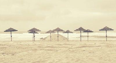 Photo of Beach Praia da Costa Nova at Av. Ns. Da Saude, Ilhavo 3830, Portugal