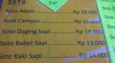 Photo of Asian Restaurant Soto Ableh at Jl.ayani, Singkawang, Indonesia