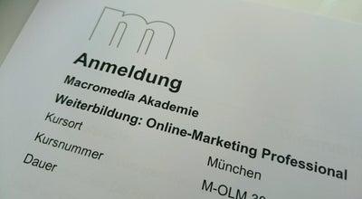 Photo of College Academic Building Macromedia Hochschule für Medien und Kommunikation at Bayerstr. 85, München 80335, Germany