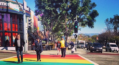 Photo of Historic Site West Hollywood Rainbow Crosswalks at Santa Monica Boulevard, West Hollywood, CA 90069, United States