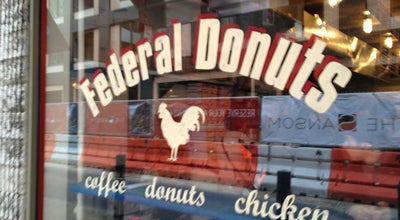 Photo of Donut Shop Federal Donuts at 1632 Sansom St, Philadelphia, PA 19103, United States