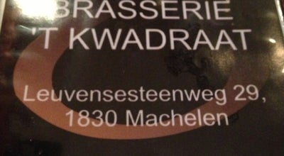 Photo of Restaurant 't Kwadraat at Leuvensestwg. 29, Machelen 1830, Belgium