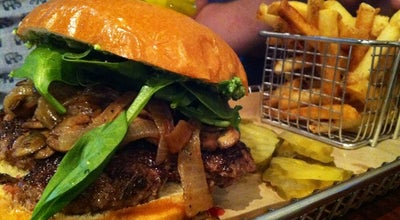 Photo of Burger Joint Hops Burger Bar at 2419 Spring Garden St, Greensboro, NC 27403, United States