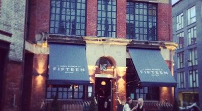 Photo of Modern European Restaurant Jamie Oliver's Fifteen at 15 Westland Pl, Hoxton N1 7LP, United Kingdom