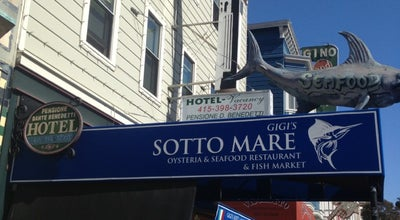 Photo of Seafood Restaurant Sotto Mare Oysteria and Seafood Restaurant at 552 Green St, San Francisco, CA 94133, United States