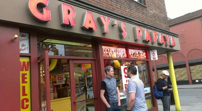 Photo of Fast Food Restaurant Gray's Papaya at 402 Ave Of The Americas, New York, NY 10011, United States
