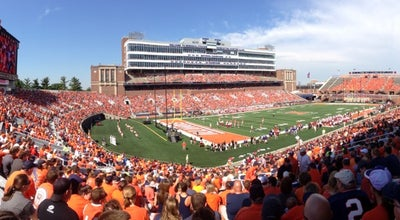 Photo of College Football Field Memorial Stadium at 1402 S 1st St, Champaign, IL 61820, United States