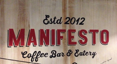 Photo of Coffee Shop Manifesto Coffee Bar & Eatery at Indonesia