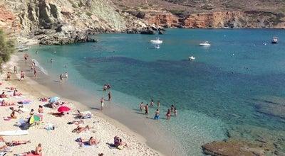 Photo of Beach Παραλία Αγκάλη (Agkali Beach) at Αγκάλη, Folégandros, Greece